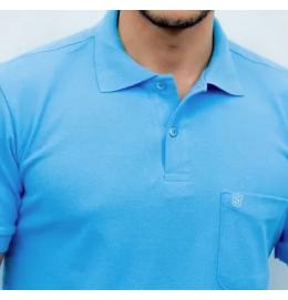 Camisa Polo Lisa Sudotex (c/ bolso)